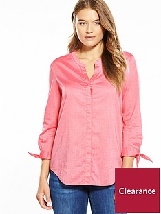 boss-tie-sleeve-detail-blouse-bright-pink