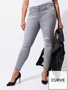 river-island-ri-plus-molly-grey-high-rise-skinny-jeans