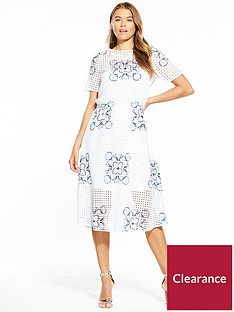 boss-emare-floral-print-dress-white