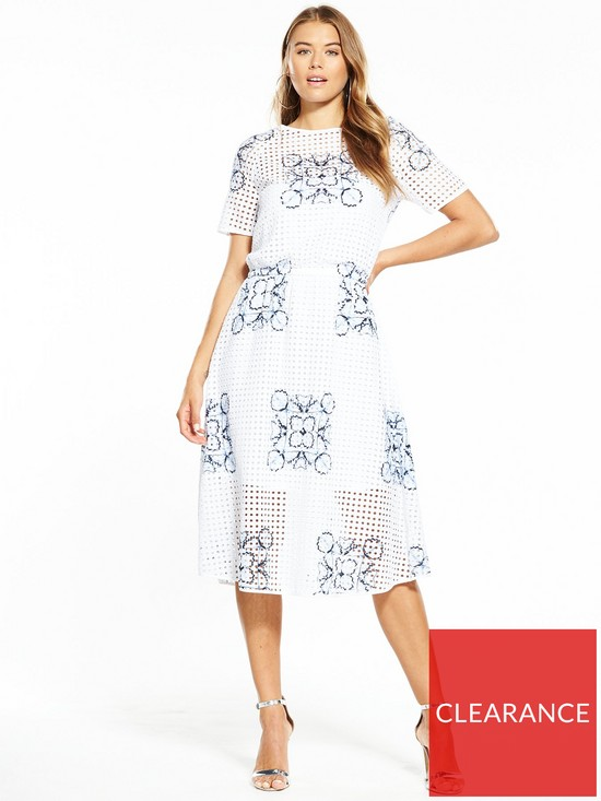 78a1d36a1882 BOSS Emare Floral Print Dress - White