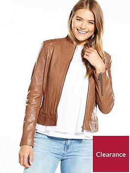 boss-zip-detail-leather-jacket-tan