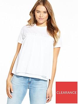 boss-chiffon-pleated-blouse-white
