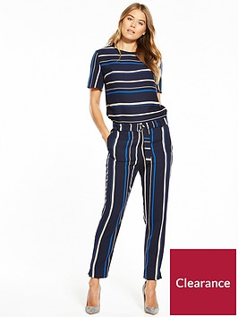 boss-stripe-belted-jumpsuit