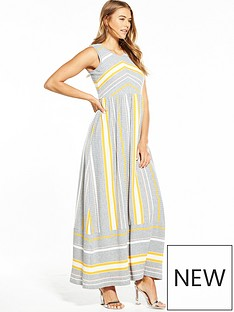 boss-orange-sleeveless-stripe-knitted-maxi-dress