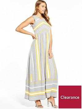 boss-sleeveless-stripe-knitted-maxi-dress