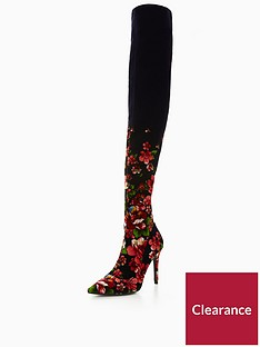 v-by-very-saskia-floral-pointed-stretch-over-the-knee-boot-navy-multi