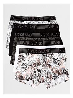 river-island-skull-bloom-5-pk-trunk
