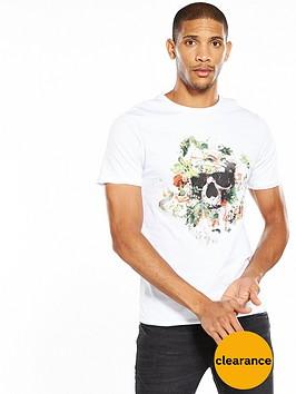 river-island-floral-skull-tshirt