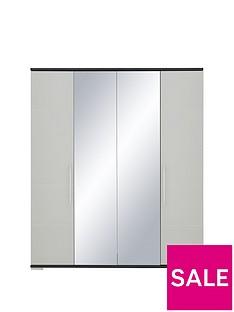 Consort Fern 4 Door Mirrored Wardrobe