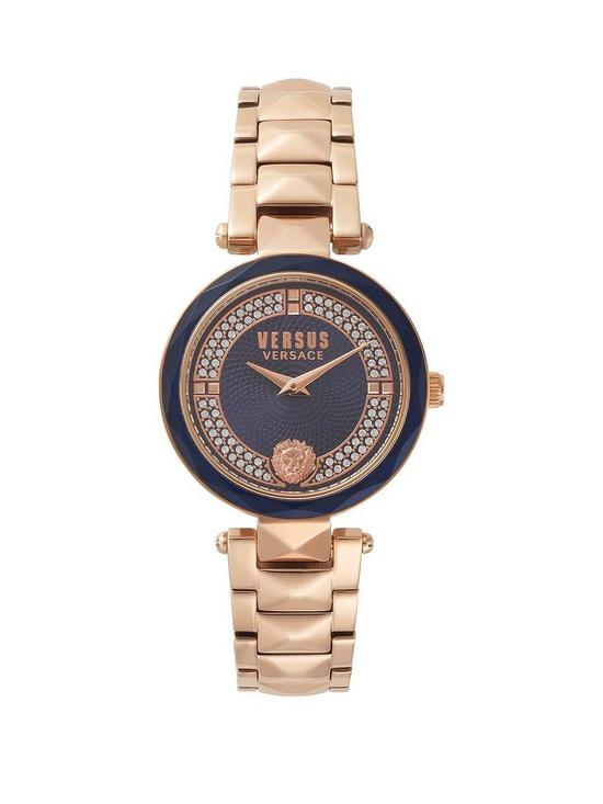 6f75a6ae7c Covent Garden Blue Dial Rose Gold Bracelet Ladies Watch