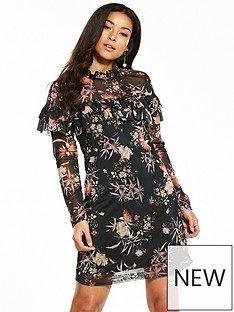 v-by-very-frill-printed-dress