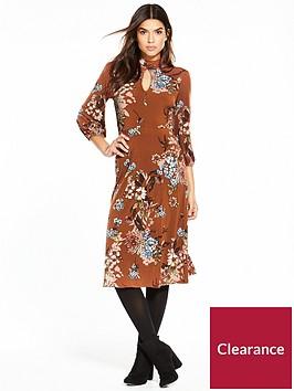 v-by-very-printed-balloon-sleeve-midi-dress