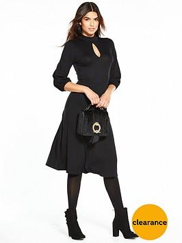 v-by-very-balloon-sleeve-midi-dress