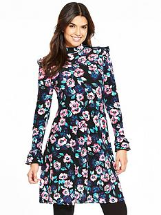 v-by-very-printed-frill-day-dress