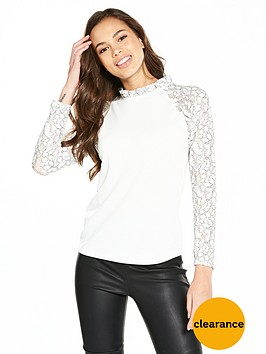 v-by-very-lace-sleeve-top