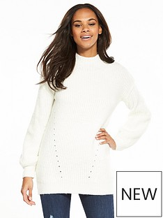 v-by-very-balloon-sleeve-fluffy-rib-tunic