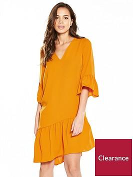 v-by-very-plunging-v-asymmetric-hem-tunicnbspdressnbsp--orange