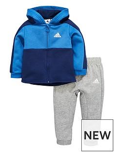 adidas-adidas-baby-boy-full-zip-fleece-hooded-linear-suit
