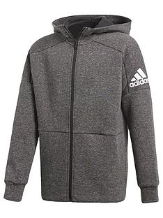 adidas-adidas-older-boy-full-zip-fleece-stadium-hoody