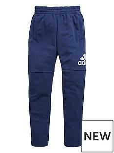 adidas-adidas-older-boy-logo-slim-leg-fleece-pant