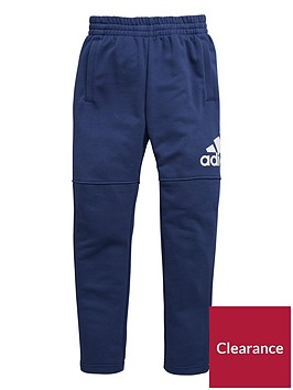adidas-adidas-older-boy-logo-slim-leg-fleece-pant