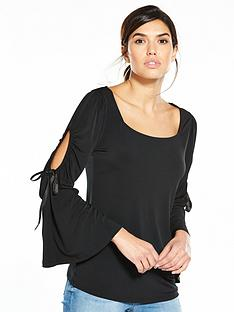 v-by-very-cold-shoulder-bow-top