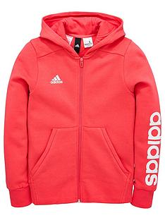 adidas-older-girl-linear-full-zip-hoody