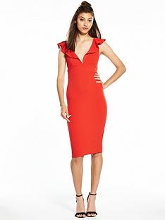 river-island-frill-red-bodycon-dress