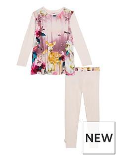 baker-by-ted-baker-girls039-pink-woodland-theme-pyjama-set