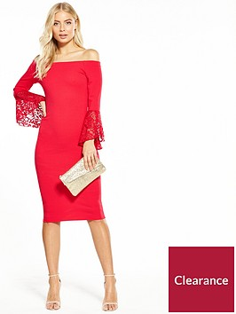 v-by-very-lace-fluted-sleeve-bodycon