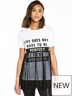 river-island-life-mesh-t-shirt