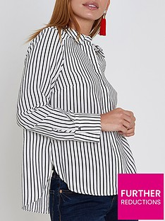 ri-petite-striped-bow-back-shirt