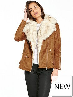 river-island-river-island-lightweight-faux-fur-aviator-jacket