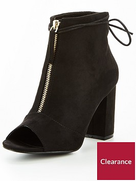 v-by-very-sapphire-zip-front-shoe-boot-black