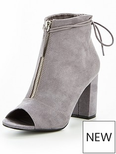 v-by-very-sapphire-zip-front-shoe-boot-grey