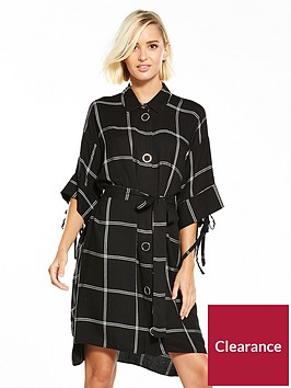 river-island-black-check-popper-dress