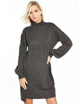 river-island-charcoal-jumper-dress