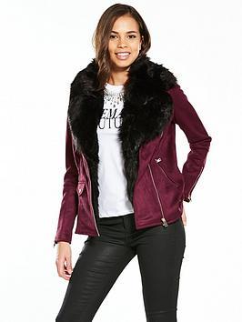river-island-river-island-oxblood-faux-fur-collar-aviator-coat