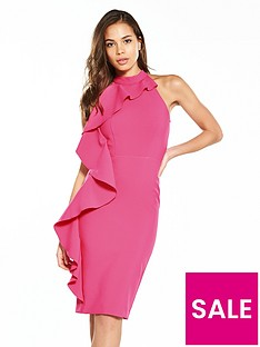 river-island-frill-bodycon-dress--pink