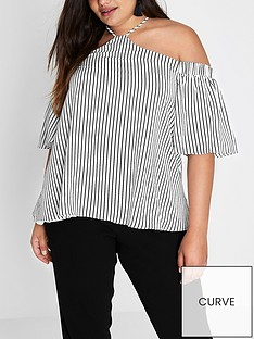 ri-plus-stripe-cold-shoulder-top