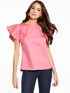 ted-baker-gaiser-frill-drop-shoulder-top