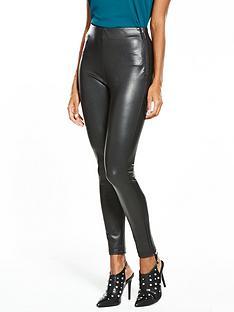 wallis-faux-leather-side-zip-trouser