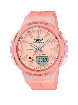 casio-casio-baby-g-step-tracker-coral-resin-strap-ladies-watch