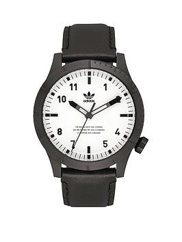 adidas-adidas-cypher-lx1-black-amp-white-leather-strap-mens-watch