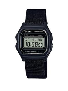 casio-casio-microlight-water-resistant-black-woven-strap-mens-watch