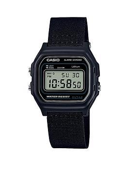 casio-casio-microlight-water-resistant-black-woven-strap-mens-watch