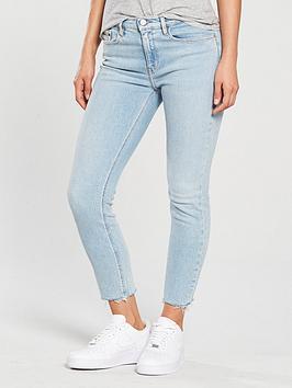 Calvin Klein Jeans Distressed Hem Skinny Jean - Berlin Blue