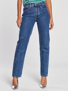 Calvin Klein Jeans Straight Leg Jean - Christiane Blue