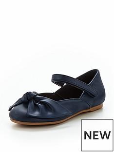 mini-v-by-very-ella-gingham-bow-ballerina-shoe