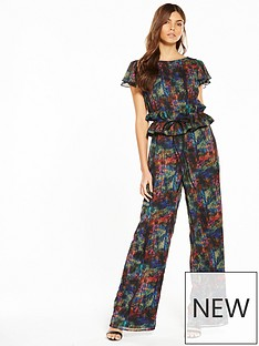lost-ink-printed-frill-sleeve-jumpsuit